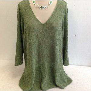 Coldwater Creek Pale Moss Green Sweater Tunic